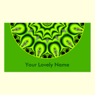 Spring Garden Mandala, Bright Abstract Lime Double-Sided Standard Business Cards (Pack Of 100)