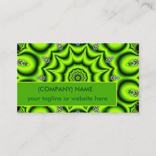 Spring Garden Mandala, Bright Abstract Lime Joyful Business Card