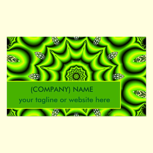 Spring Garden Mandala, Bright Abstract Lime Joyful Double-Sided Standard Business Cards (Pack Of 100)