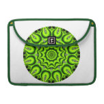 Spring Garden Mandala, Bright Abstract Lime Sleeves For MacBook Pro