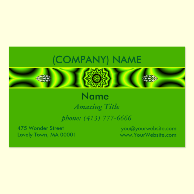Spring Garden Mandala, Bright Abstract Lime Modern Double-Sided Standard Business Cards (Pack Of 100)