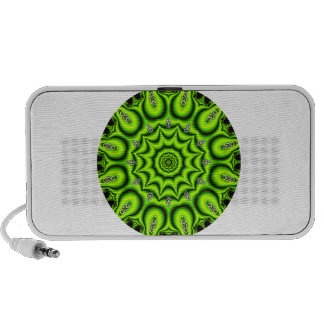 Spring Garden Mandala, Bright Abstract Lime iPhone Speakers