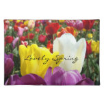 Spring Garden placemats Lovely Spring Tulips