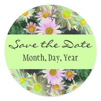 Spring Garden Save the Date sticker