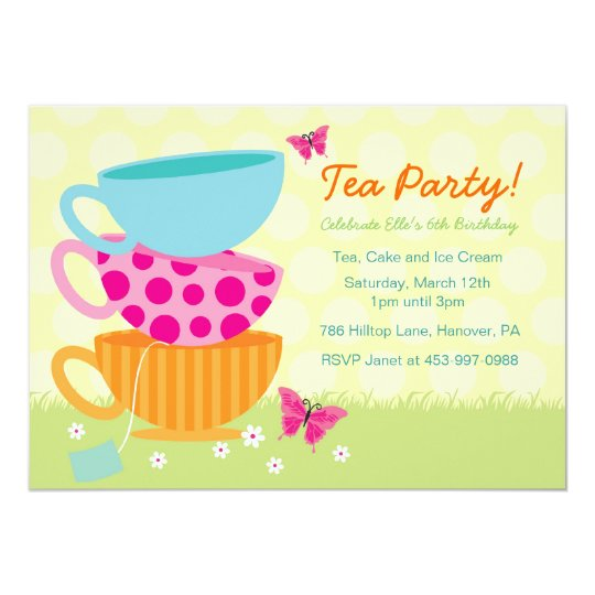 Spring Garden Tea Party Invitations – Garden Tea Party Invitations