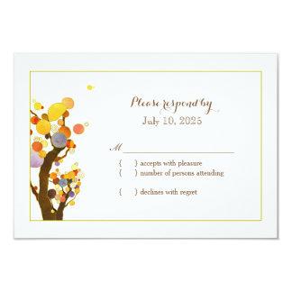 Spring Garden Trees Wedding RSVP Card
