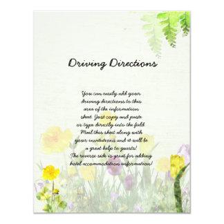 Spring Garden Wedding Informational Sheet Card