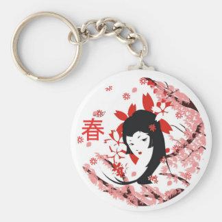 Spring Geisha keychain