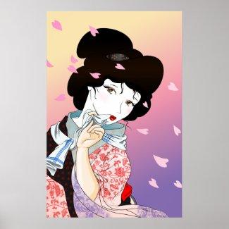 Spring Geisha Poster Print