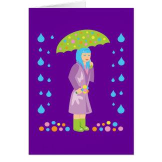 Spring Girl Card