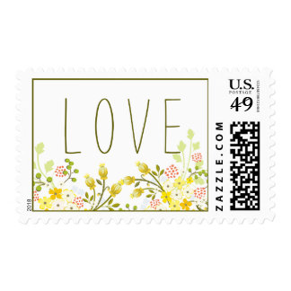 Spring Glory Floral Wedding Personalized Stamp