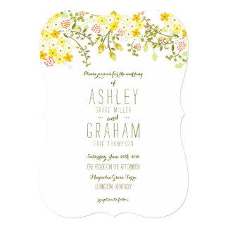 Spring Glory Yellow Floral Wedding Invitation