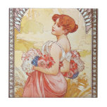 Spring Goddess Ceramic Tile