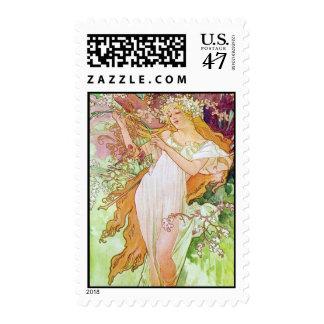 Spring Goddess Postage