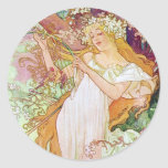 Spring Goddess Round Stickers