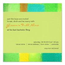 Spring goldenrod Bachelor Party Invitation