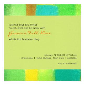 "Spring goldenrod Bachelor Party Invitation 5.25"" Square Invitation Card"