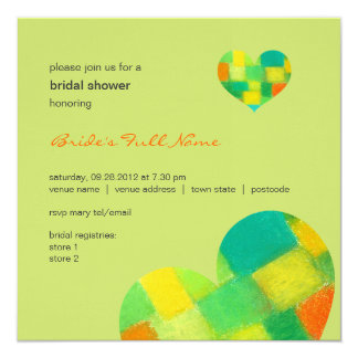"Spring goldenrod Bridal Shower Invitation 5.25"" Square Invitation Card"