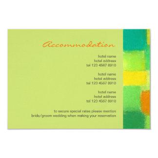 "Spring goldenrod Wedding Enclosure Card 3.5"" X 5"" Invitation Card"