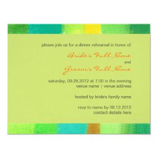 "Spring goldenrod Wedding Rehearsal Dinner Invite 4.25"" X 5.5"" Invitation Card"