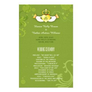 Spring Grass Green Irish Wedding Program