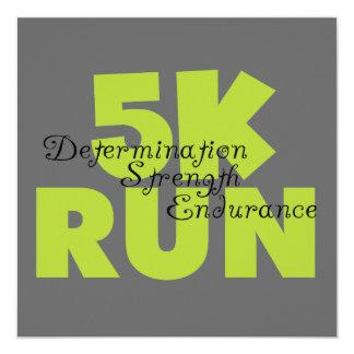 Spring Green 5K Run Invitations