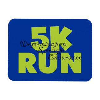 Spring Green 5K Run Rectangular Magnet