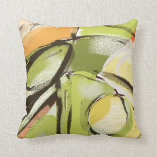 Spring Green Abstract Art Pillows