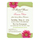 Spring Green and Fuschia Pink Daisy Bridal Shower Card