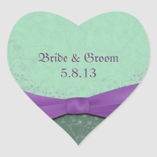 Spring Green and Purple Wedding Stickers