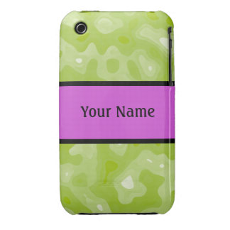 Spring Green and White Abstract Pattern iPhone 3 Case-Mate Cases