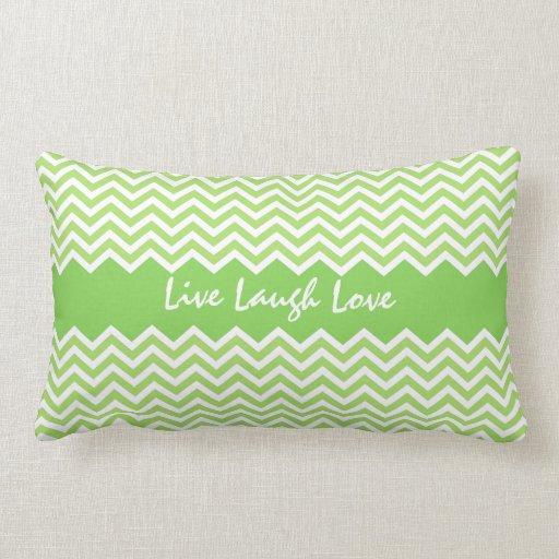 Spring green chevron zigzag pattern custom pillow