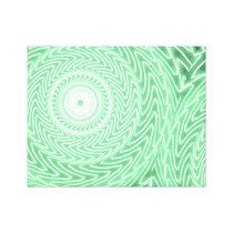 Spring green circles pattern canvas print