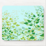 Spring Green Floral mousepad