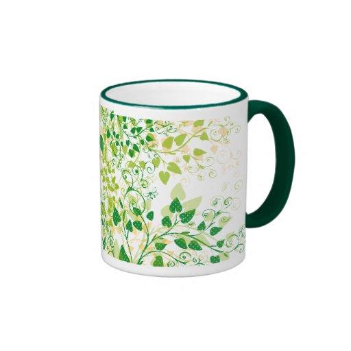 Spring Green Floral mug