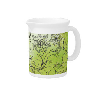 Spring Green & Flowers - Pitcher - 1