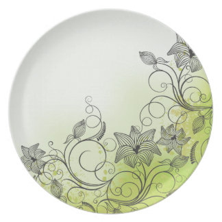 Spring Green & Flowers - Plate - 1