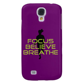 Spring Green Focus Believe Breathe Samsung Galaxy S4 Cases