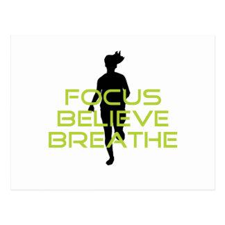 Spring Green Focus Believe Breathe Postcard