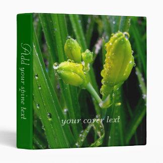 spring green lily buds 3 ring binder