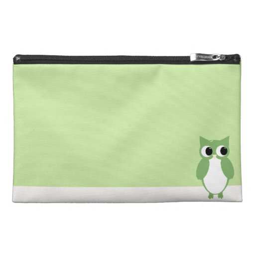 Spring Green Owl Travel Accessories Bags