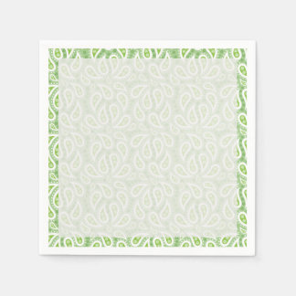 Spring Green Paisley Floral Napkin