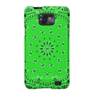 Spring Green Paisley Western Bandana Scarf Print Galaxy SII Cases