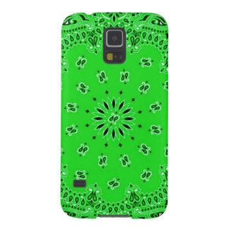 Spring Green Paisley Western Bandana Scarf Print Galaxy S5 Case