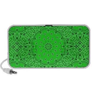 Spring Green Paisley Western Bandana Scarf Print iPhone Speaker