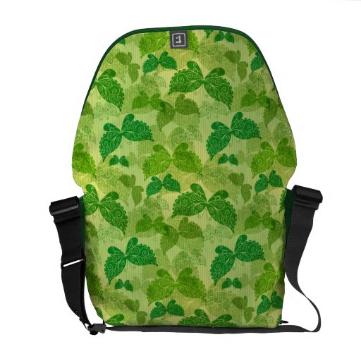 Spring Green Pattern Courier Bags