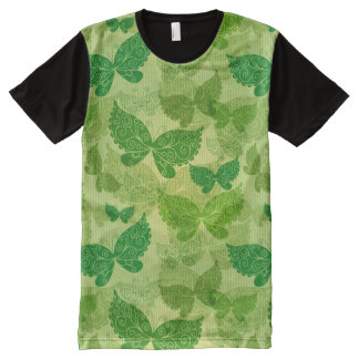 Spring Green Pattern All-Over Print T-shirt