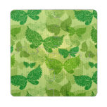 Spring Green Pattern Puzzle Coaster