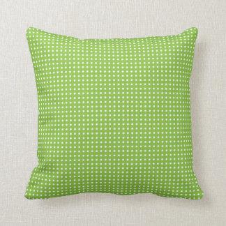 Spring Green Polka Dot Pillow