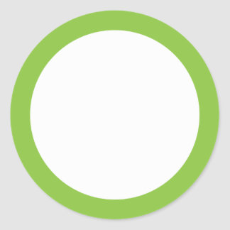 Spring green solid color border blank classic round sticker
